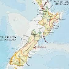 Map New Zealand New Zealand Map Print Notebook By Bombus Off The Peg