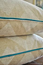How To Make A Cushion With Zip Diy Pillow Cover With Piping And Zipper A Lo And Behold Life