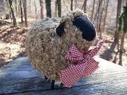 Sheep Home Decor Sheep Home Decor Primitive Look Folk Woolly Sheep