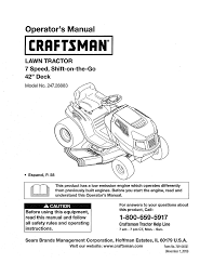 craftsman 247 28883 operator s manual