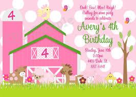 art birthday invitations pink farm birthday invitation pink farm invitations