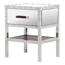trunk style bedside tables mirrored trunk bedside table shropshire design