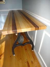 narrow butcher block kitchen island prep table antique cast iron