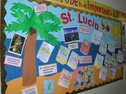 st lucia display teaching ideas