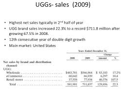 ugg sales statistics marketing uggs