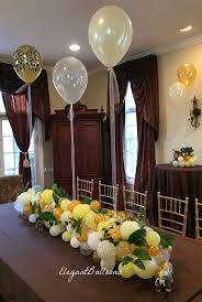 organic balloon table runner classy decoration for your wedding