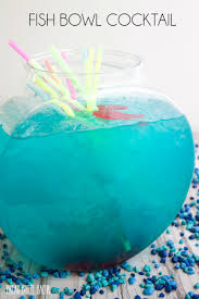 blue hawaiian cocktail fish bowl cocktail bread booze bacon