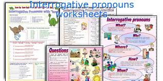 english teaching worksheets interrogative pronouns