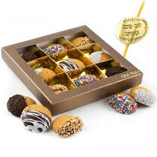 cookie gift boxes 9 pc chocolate dipped honey cookie gift box rosh hashanah gift