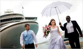 nytimes weddings couples book a wedding at sea for a better deal the new york times