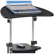 Adjustable Rolling Laptop Desk by Techni Mobili Rolling Swivel And Adjustable Laptop Cart With