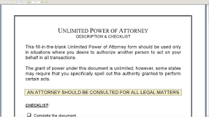 Nj Durable Power Of Attorney by Unlimited Power Of Attorney Youtube