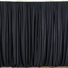 Black Backdrop Curtains Urby 10 Ft X 10 Ft Fabric Backdrop Black Curtain Dual