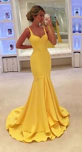yellow dress 2017 custom charming yellow prom dress mermaid prom dress