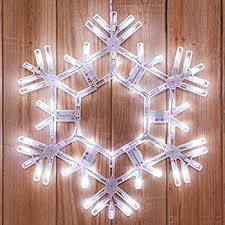 hanging twinkle snowflake 20 inch cool white outdoor