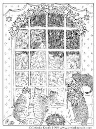 christmas coloring pages cards and poems by catinka knoth
