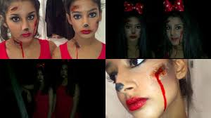 dead minnie mouse halloween look youtube