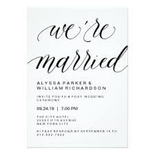 post wedding reception invitation wording post wedding reception invitations announcements zazzle