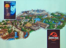 Jurassic Park Map Image Gallery Of Jurassic Park The Ride Map