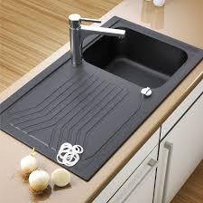 spüle küche elleci ego 400 vitrotek 3g black waschbecken spüle granit einbau