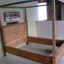 Wood Canopy Bed Made Wooden Canopy Bed By Ecustomfinishes Reclaimed Wood