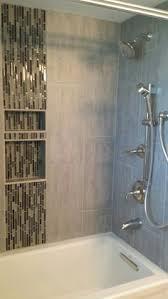 bathroom shower niche ideas gray marble herringbone tiled shower niche ideas for the house