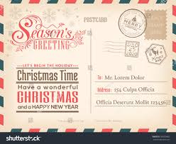 Official Invitation Card Vintage Christmas Happy New Year Holiday Stock Vector 353593862