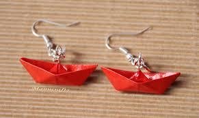 origami earrings origami earrings anniversary gift paper jewellery