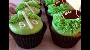 football cupcakes football cupcake by thefoodventure