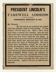 abraham lincoln s farewell address