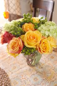 fall wedding centerpieces themed centerpiece with roses and