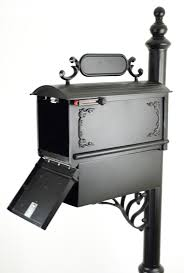 venia mailboxes curbside mailbox with ornamental address plaque