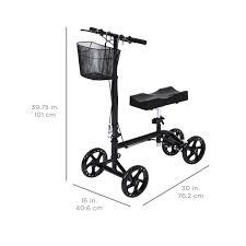 Spirit Halloween Denton Tx 288 by Knee Walker Scooter Leg Crutch Steerable Turning Folding W Basket