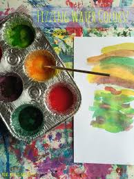 Color Painting by Mini Monets And Mommies Kids U0027 Science And Art Fizzing Water