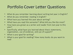 writing portfolio cover letter 16 cover letter for a portfolio