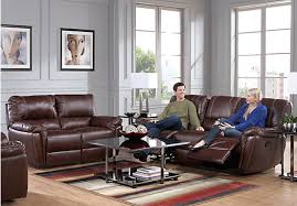 Rooms To Go Sofas And Loveseats by Shop For A Casaro Black Leather Match 5 Pc Reclining Living Room