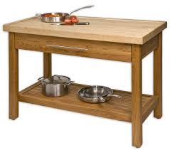 unfinished teak wood kitchen island table stand with storage and