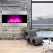 color changing flat wall mount electric fireplace space heater