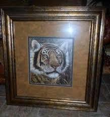 home interior safari white tiger picture framed print l on popscreen