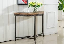 console table outdoor metal console table in distressed pine