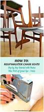 Reupholster Chair How To Reupholster Dining Chairs Diy Houndstooth Upholstered