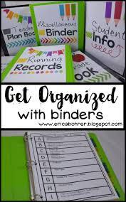 orginized get organized with binders teacher plan book miscellaneous