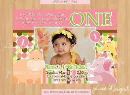 jungle invite 1st birthday invitation 1st party invitation