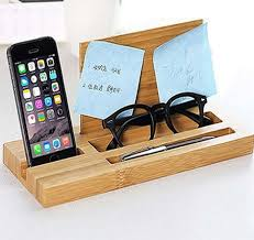 desk phone stand organizer bamboo wood office desk organizer mobile phone stand feelgift