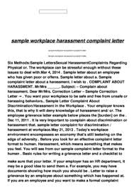 Formal Complaint Letter Against An Employee employee complaint letter forms and templates fillable printable
