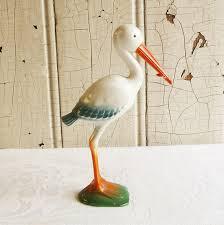stork baby shower decorations plastic stork cake topper baby shower decoration mid century