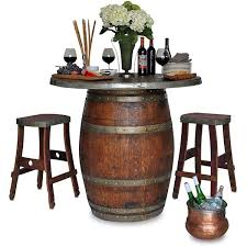 Bar Height Fire Table Grand Wine Barrel Fire Pit Table Bar Height