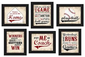 Winners Home Decor Printable Custom Baseball Theme Home Decor Set By Lostsockdesigns