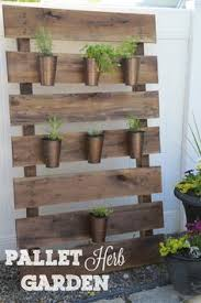 Pallet Garden Decor Simple Pallet Herb Garden Planning On Basil Thyme Rosemary