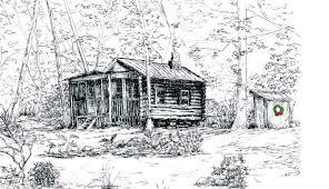 log cabin drawings califon historical society the log cabin